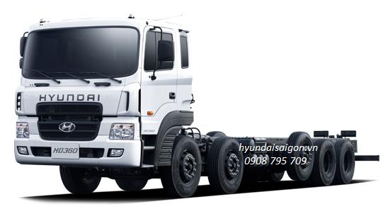 Xe tải 5 chân Hyundai HD 360 nhập khẩu nguyên chiếc