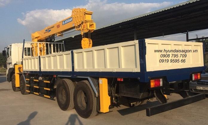 Xe tải cẩu 12 tấn Soosan 1015Ls Hyundai 4 chân HD320 nhập khẩu 2019