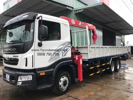 Xe tải cẩu Unic 5 tấn 4 khúc UR-V554 Daewoo Maxmus 3...
