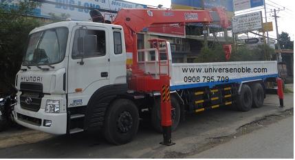 Xe tải cẩu Unic soosan kanglim từ 3 tấn đến 14 tấn